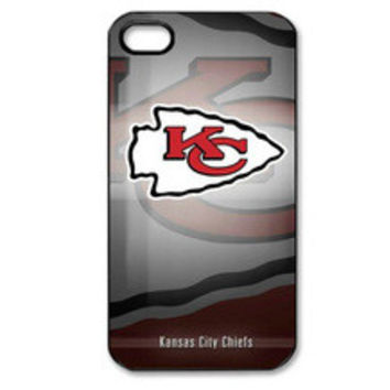 """Just 1 Red Cent Sale""...NFL Kansas City Chiefs Hard Plastic phone cases For iphone 4/4s"