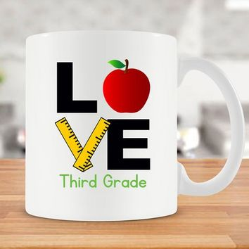 Third Grade Teacher Mug 3rd Grade Teacher Gift For Teacher Coffee Mug For Teacher Best Coffee Cup Teacher Appreciation Ceramic Mug - SA976