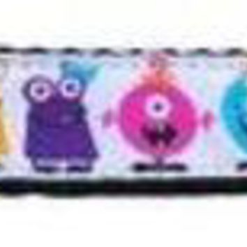 CUPUPHA Monsters Nylon Ribbon Dog Collars 1 wide 4ft Leash