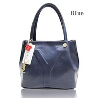 DCCKJ1A YSL Yves Saint Laurent beautiful fashion women's leather handbag F-MYJSY-BB Blue
