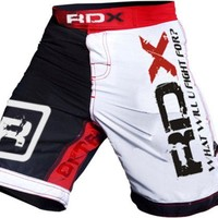 RDX Fight MMA Shorts White Red