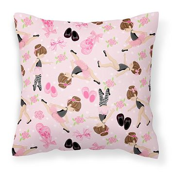 Ballerinas and Roses Fabric Decorative Pillow BB5172PW1818
