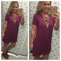 To a Tee Tunic: Plum