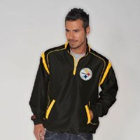 Pittsburgh Steelers Pass Protection Lightweight Black Pullover Jacket - Official Online Store