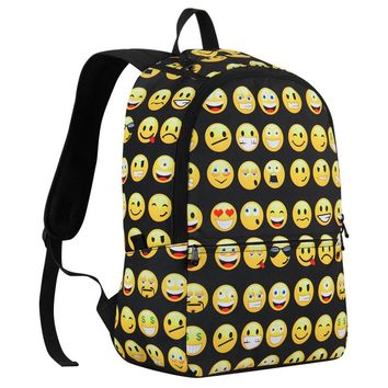 Smiley Face Backpacks emoji Travel Shoulder Bag