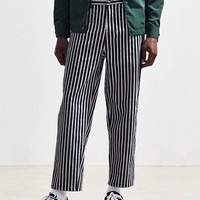 BDG Black + White Striped Straight Cropped Jean | Urban Outfitters