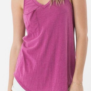 Z Supply Purple Shadow Pocket Tank