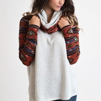 Havana Nights Aztec Hooded Tunic