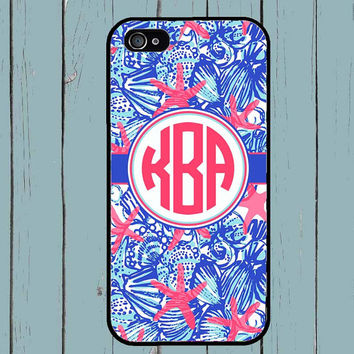 Galaxy S6 case Phone 6 case iPhone 5s case Lilly Pulitzer Inspired monogram iPhone 5 case iPhone 4 Case iPhone 4S Case iPhone 5C Case