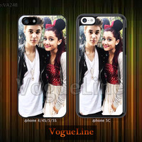 iPhone 5 case iPhone 5c case iPhone 5s case iPhone 4 case iPhone 4s case, Phone covers, Skins, Justin bieber Ariana Grande --VA248
