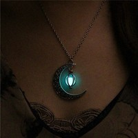 Luminous Glow In The Dark Moon Necklace