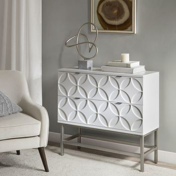 Madison Park Beacon White Wood 2-drawer Accent Chest | Overstock.com Shopping - The Best Deals on Coffee, Sofa & End Tables