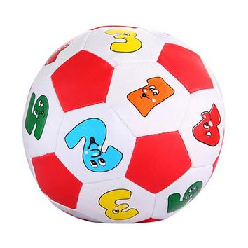 Baby Toys Baby Kids Early Education Football Toys Alphabet Number Learning Ringing Rubber Outdoor Sports Toys