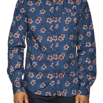 Guys Mini Floral Print Shirt