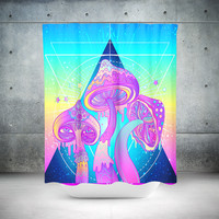 Magic Mushrooms Shower Curtain Bathroom Decor