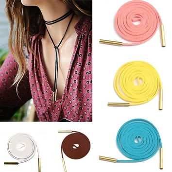 Jewelry New Arrival Shiny Gift Stylish Vintage Korean Leather Necklace [186327072794]