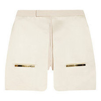 Esteban Cortazar | Duchess satin and twill shorts | NET-A-PORTER.COM