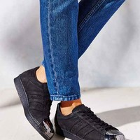 adidas Blue Superstar 80s Metal-Toe Sneaker- Black
