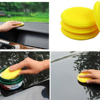 good quality Yellow round Car Auto Washing Cleaning Sponge Block auto wash cleaner automobile accessory