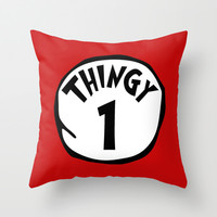 Thingy1 Throw Pillow by Moop