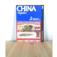 China Majestics Beijing Tours Booklet {1985} Vintage Paper Ephemera