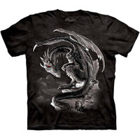 BRAVERY MISPLACED The Mountain Medieval Knight Slaying Dragon T-Shirt S-3XL NEW