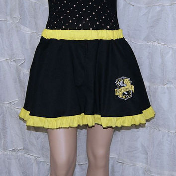 Hufflepuff Embroidered House Crest Circle Skirt Adult ALL Sizes - MTCoffinz