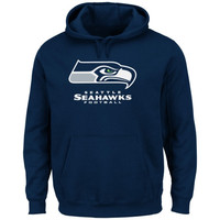 Seattle Seahawks Critical Victory Pullover Hoodie - College Navy