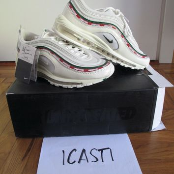 Air Max 97 Undefeated White/Red/Green (US 9.5 UK 8.5 EU 43)