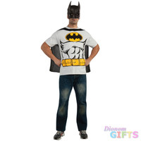 Men's Costume Shirt: Batman-Medium