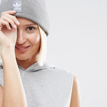 Adidas | adidas Originals Knitted Beanie With Patch Logo at ASOS