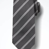 Double-Stripe Nanotex® Tie | Banana Republic
