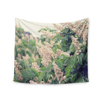 """Sylvia Coomes """"Breath Of Fresh Air"""" Pink Floral Wall Tapestry"""