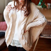 Off-White Knitted Sleeve Cardigan