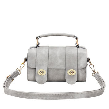 Fashion Lock Simple Design Stylish Shoulder Bag [4982896260]