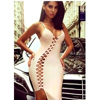 Frezzy Cut out Hot Bandage Dress 2 colors
