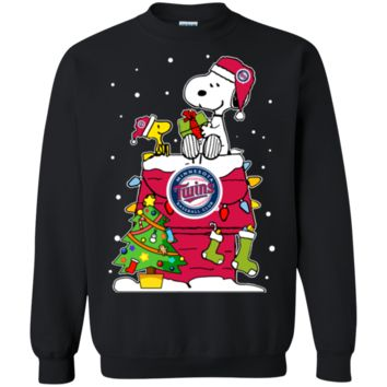 Cover your body with amazing Minnesotatwins Ugly Christmas Sweaters Snoopy