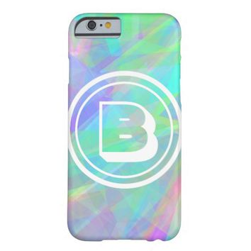 Personalized Abstract Pastel with Monogram Barely There iPhone 6 Case
