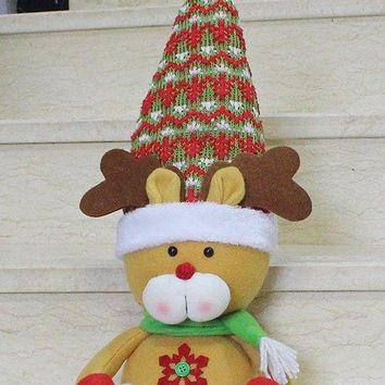 Cut Reindeer Doll Toy Xmas Decoration Best Gift