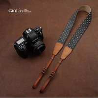 Cam-in - Handmade Leather Camera Strap in Brown- CAM7117