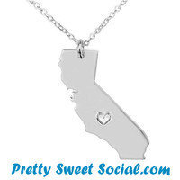 S925 Silver California Love Necklace