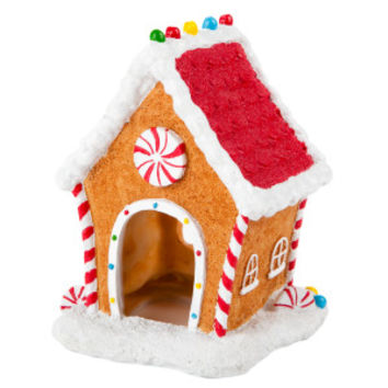 top fin gingerbread house aquarium ornament - Christmas Aquarium Decorations
