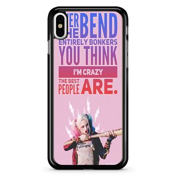 Harley Quinn Quote iPhone X Case