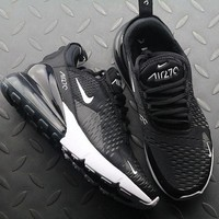 Nike Air Max 270 AH6789-001 Black Anthracite White Sport Running Shoes - Best Online Sale