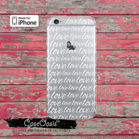 Love Cursive Script Quote Cute Handwriting Tumblr Clear Rubber Phone Case For iPhone 6 and iPhone 6 Plus + Transparent Crystal Custom Case