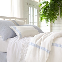 Varana Linen French Blue Bedding design by Pine Cone Hill