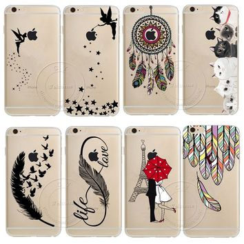For Apple iPhone 8 X 4 4S 5 5S 5C SE 6 6S 7 Plus Dream Catcher Tinker Bell Tower Design Soft TPU Silicone Case Cover Capa Coque