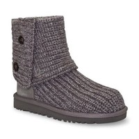 UGG Australia Girls' Cardy Knit Boot Grey 4 M US