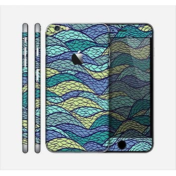 The Green and Blue Stain Glass Skin for the Apple iPhone 6 Plus