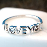I Love You Letters Ring Infinite Love Best Friend Sister Ring Jewelry Gift Idea